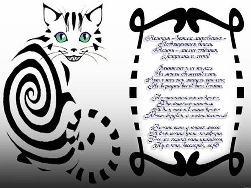 Стихи о кошках