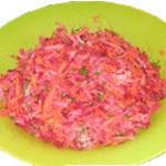 Рецепт салата из сырых овощей с дайконом
