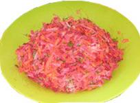 Рецепт салата из сырых овощей
