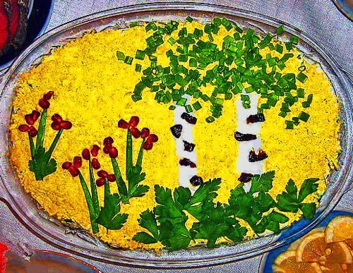Как приготовить и украсить салат мимоза