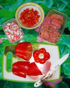 Готовим салат Дед Мороз