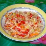 Рецепт овощного салата с капустой
