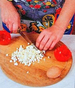 Салат для фарширования помидор