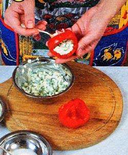 Фаршируем помидоры салатом
