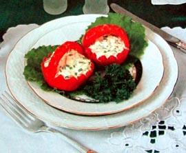 Помидоры фаршированные салатом