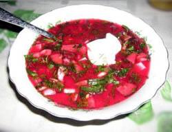 Холодный суп свекольник