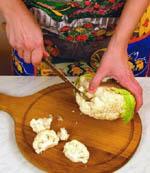 Готовим цветную капусту под сыром