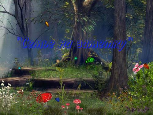 Живая картинка Бабочки в лесу