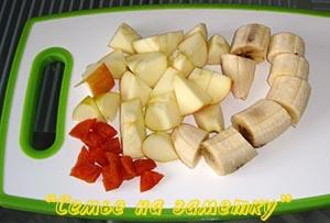 Банан, яблоко, курага для смузи