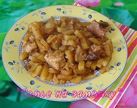 Картошка со свининой. Рецепт для Мулинекс Cook4me