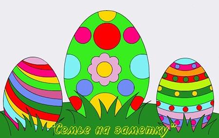 Раскраска Пасхальные яйца