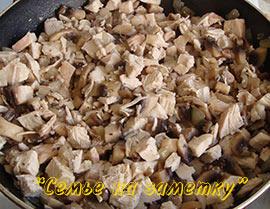 Готовим жульен из шампиньонов и курицы