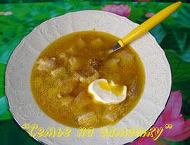 Грибной суп из свежих белых грибов