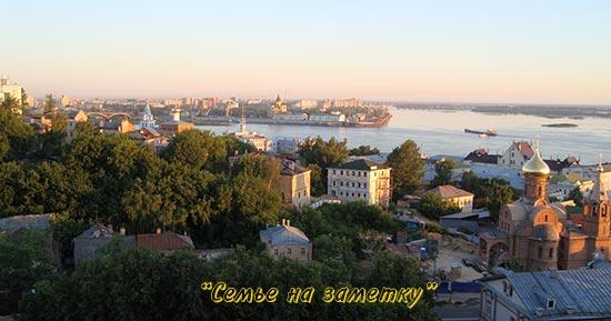 Нижний Новгород стоит на месте слияния Оки и Волги