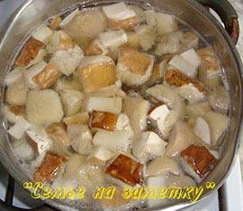 Варим свежие белые грибы