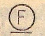 Знак F  подчеркнутый для химчистки