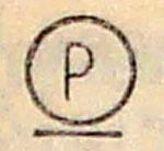 Символ на этикетке Р с чертой