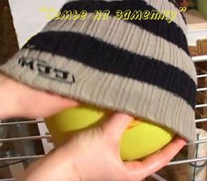 Сушка шерстяной шапки на шарике