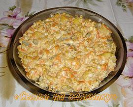 Рецепты салата с печенью трески