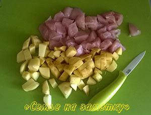 Курица и картофель