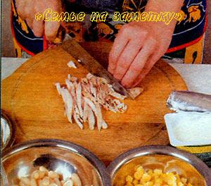 Курица для салата из фасоли