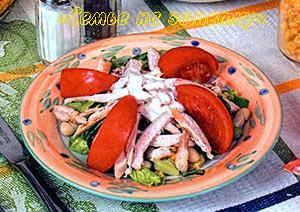 Украшение салата из фасоли