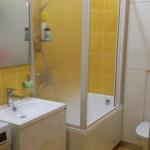 Стеклянные раздвижные шторки в ванной