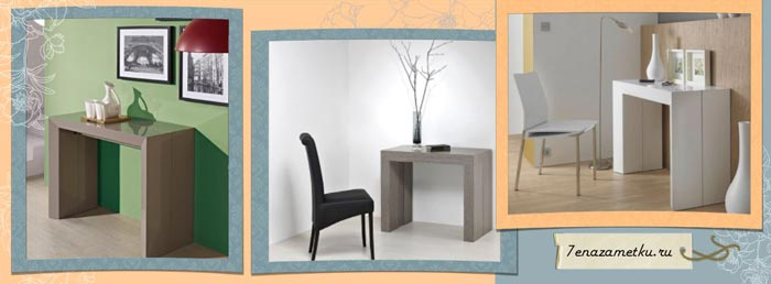 Фото консольных столов в интерьере