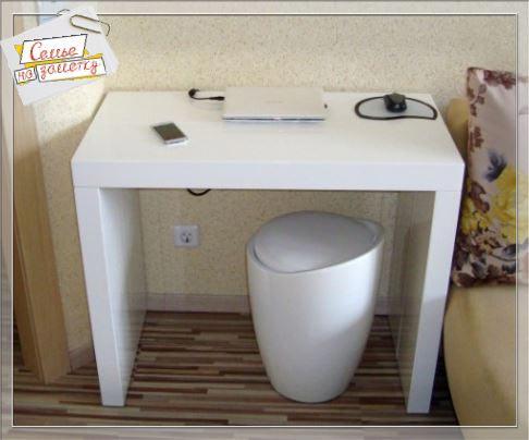 Стол консоль в качестве компьютерного стола