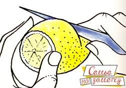 Делаем украшение из лимона