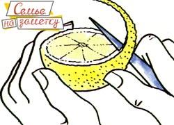 Делаем узелок из кожуры лимона