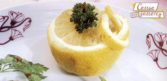 Украшение из лимона узелок