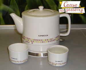 Отзыв электрический чайник KAMBROOK KCK305 из керамики