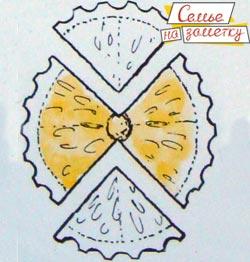 Бабочка из лимона или апельсина