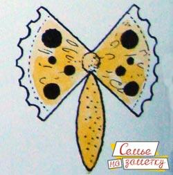 Украшаем бабочку из лимона