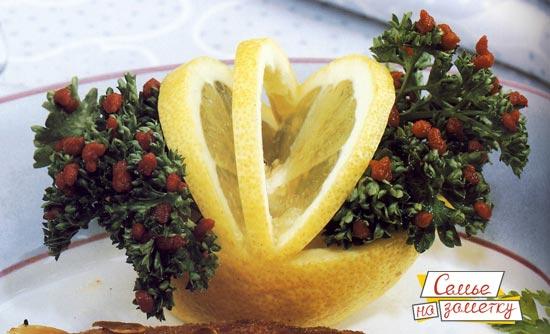 Украшение Корзинка из лимона