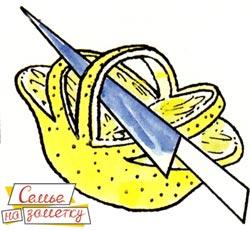 Как сделать из лимона корзинку