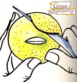 Как сделать из лимона поросенка