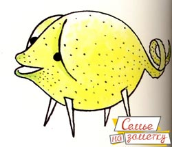 Украшение для праздничного стола Поросенок из лимона