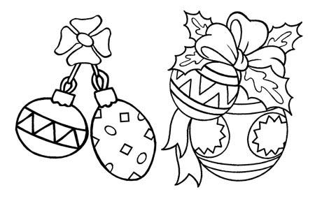 Новогодняя раскраска Елочные шары