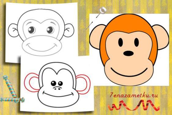 Мордочка обезьяны для салата
