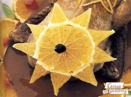 Украшение звезда из лимона