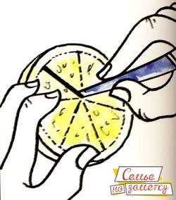 Как сделать красивое украшение из лимона