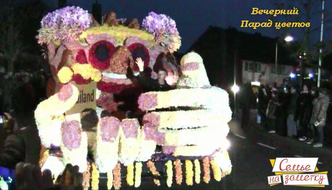 Вечерний парад цветов в Голландии