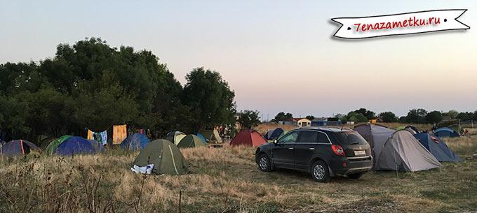 Археологический палаточный лагерь в Яковенково