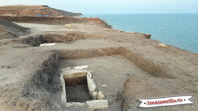 Место раскопок Кызаульского некрополя