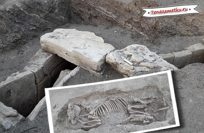 На месте раскопок Кызаульского некрополя