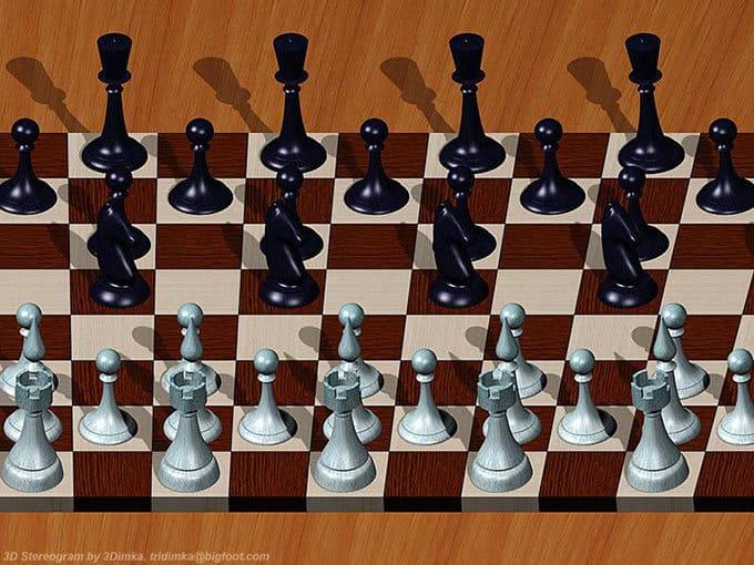 Параллельная стереокартинка шахматы