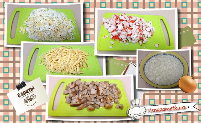 Салат крабовые палочки грибы кукуруза
