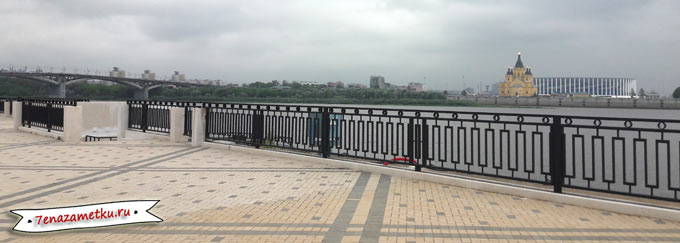 Канавинский мост, Собор Александра Невского, стадион в Нижнем Новгороде